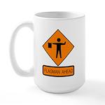 Flagman Ahead Sign - Large Mug