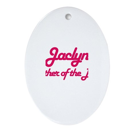 Jaclyn - Mother of Bride Oval Ornament