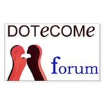 DOTeCOMe Forum - Rectangle Sticker