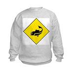 Fishing Area Sign Kids Sweatshirt