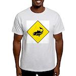Fishing Area Sign Ash Grey T-Shirt