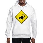 Fishing Area Sign Hooded Sweatshirt