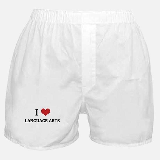 I Love Language Arts Boxer Shorts