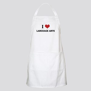 I Love Language Arts BBQ Apron