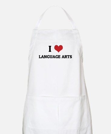 I Love Language Arts BBQ Apron