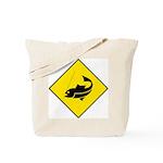 Yellow Fishing Sign - Tote Bag