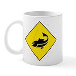 Yellow Fishing Sign - Mug
