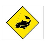 Yellow Fishing Sign - Small Poster