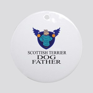 Scottish Terrier Dog Father Round Ornament