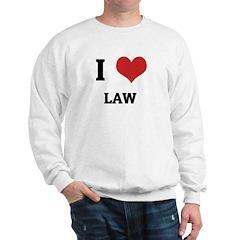 I Love Law Sweatshirt