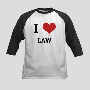 I Love Law Kids Baseball Jersey
