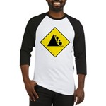 Falling Rocks Sign - Baseball Jersey
