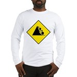 Falling Rocks Sign - Long Sleeve T-Shirt