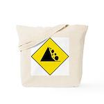 Falling Rocks Sign - Tote Bag