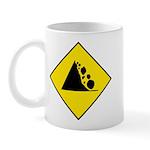Falling Rocks Sign - Mug