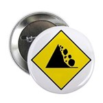 Falling Rocks Sign - Button