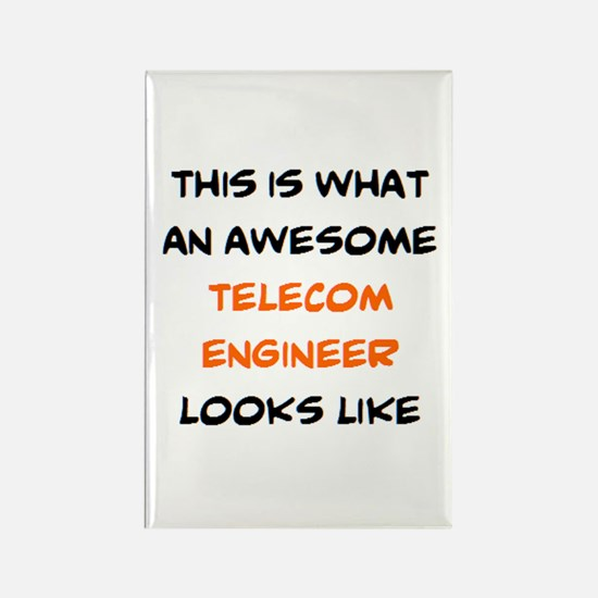 awesome telecom engineer Rectangle Magnet