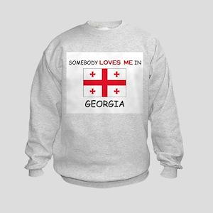 Somebody Loves Me In GEORGIA Kids Sweatshirt