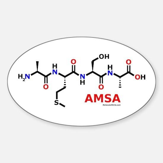 Amsa name molecule Oval Decal
