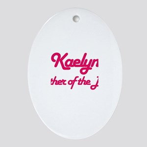 Kaelyn - Mother of Bride Oval Ornament