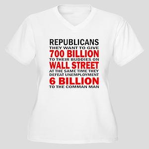 700 Billion Women's Plus Size V-Neck T-Shirt