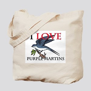 I Love Purple Martins Tote Bag