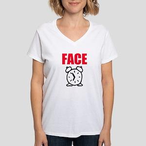 Women's FACE TIME NKOTB V-Neck T-Shirt for Concert