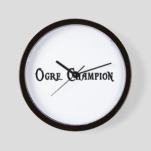 Ogre Champion Wall Clock