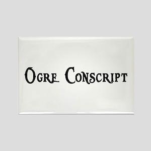 Ogre Conscript Rectangle Magnet