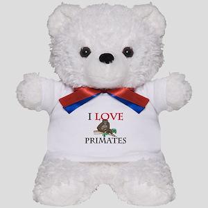 I Love Primates Teddy Bear
