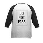 Do Not Pass Sign (Back) Kids Baseball Jersey