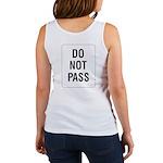Do Not Pass Sign (Back) Women's Tank Top