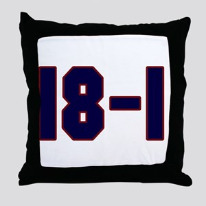 18 and 1 Throw Pillow