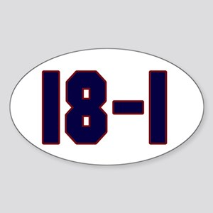 18 and 1 Oval Sticker