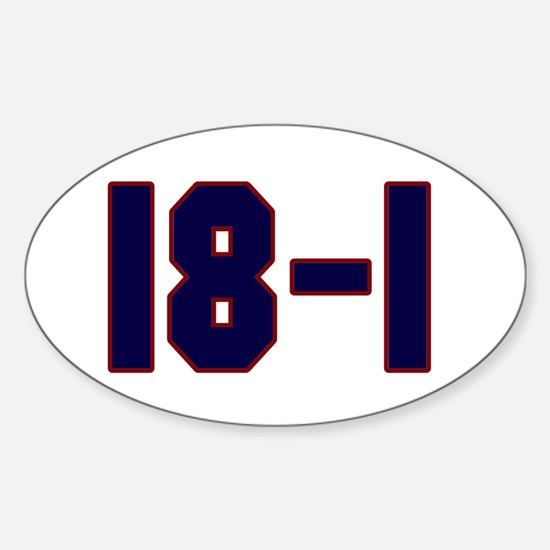 18 and 1 Oval Decal