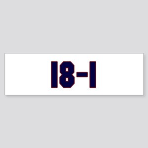 18 and 1 Bumper Sticker (10 pk)