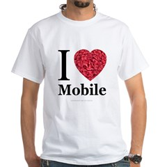 I Love Mobile White T-Shirt