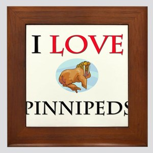 I Love Pinnipeds Framed Tile