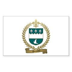DOUARON Family Crest Rectangle Decal