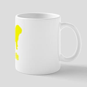 Bite Me Bulldog Yellow Mug