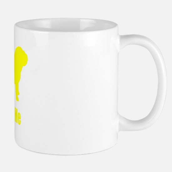 Bite Me Bulldog Yellow Mug