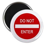 "Do Not Enter Sign 2.25"" Magnet (100 pack)"