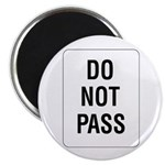 "Do Not Pass sign - 2.25"" Magnet (10 pack)"