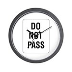 Do Not Pass sign - Wall Clock