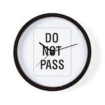 Do Not Pass sign - Wall Clock