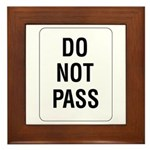 Do Not Pass sign - Framed Tile
