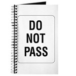 Do Not Pass sign - Journal