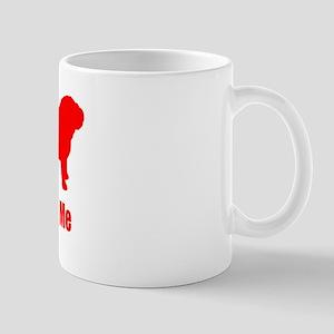 Bite Me Bulldog Lt Red Mug