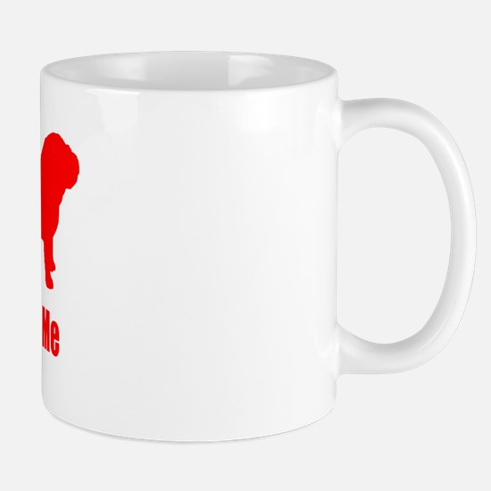 Bite Me Bulldog Lt Red Mug