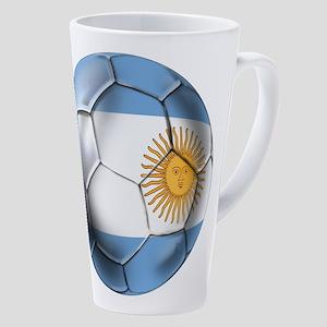 Argentina Football 17 Oz Latte Mug